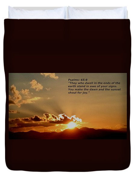From The East To The West Duvet Cover