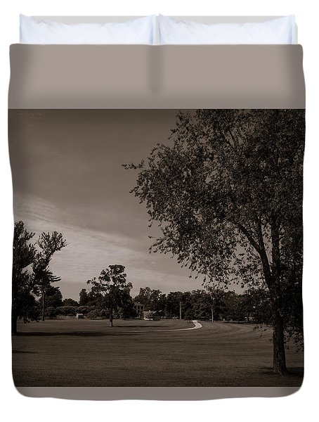 Duvet Cover featuring the photograph From The Fields - The Hermitage by James L Bartlett