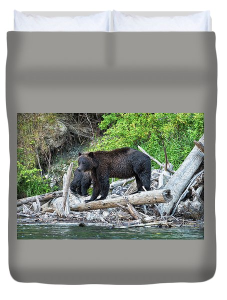 From The Great Bear Rainforest Duvet Cover by Scott Warner