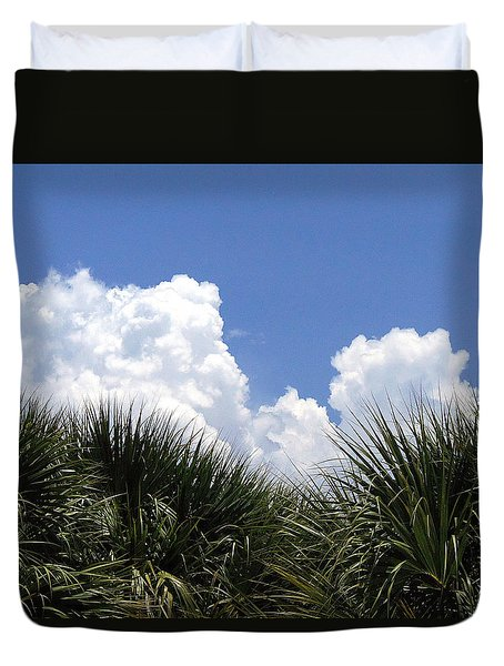 Duvet Cover featuring the photograph From The Honey Moon Island Visitor Center 002 by Chris Mercer