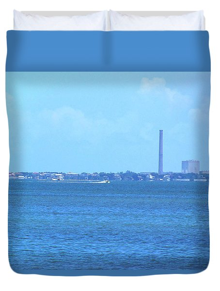 Duvet Cover featuring the photograph From The Honey Moon Island Visitor Center 003 by Chris Mercer