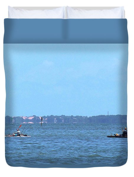 Duvet Cover featuring the photograph From The Honey Moon Island Visitor Center 004 by Chris Mercer