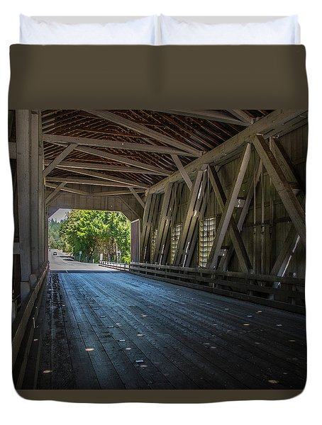From The Inside Looking Out - Shimanek Bridge Duvet Cover