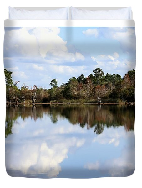 Duvet Cover featuring the photograph From The Lake To The Channel  by Debra Forand