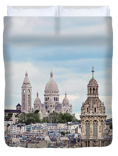 From The Rooftop - Paris, France Duvet Cover