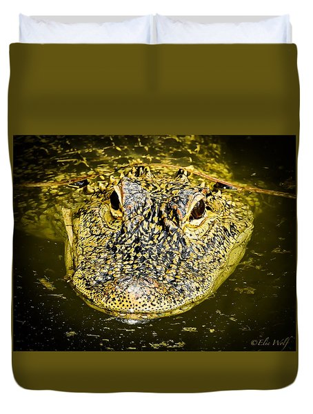 From The Series I Am Gator Number 5 Duvet Cover