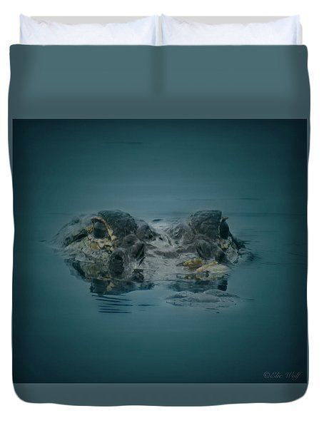 From The Series I Am Gator Number 6 Duvet Cover