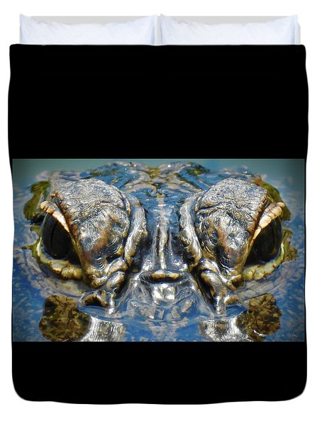 From The Series I Am Gator Number 7 Duvet Cover