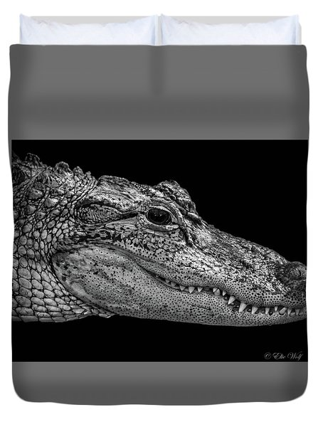 From The Series I Am Gator Number 9 Duvet Cover