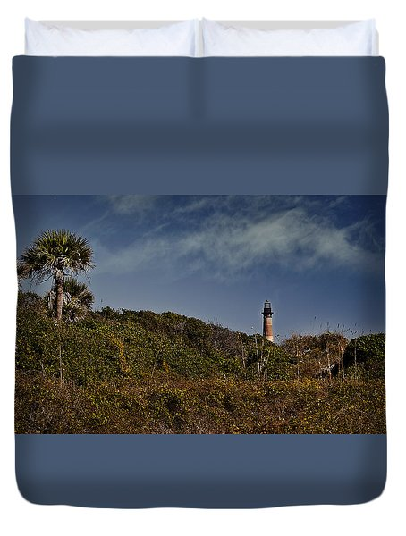 Duvet Cover featuring the photograph From The Shores Of Folly Beach by Deborah Klubertanz