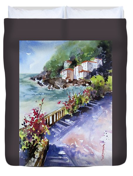 From The Walkway Duvet Cover by Rae Andrews