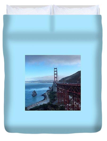 Golden Gate Bridge Vista Duvet Cover