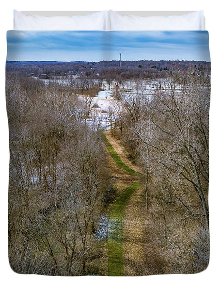 From Woods To Snow Duvet Cover