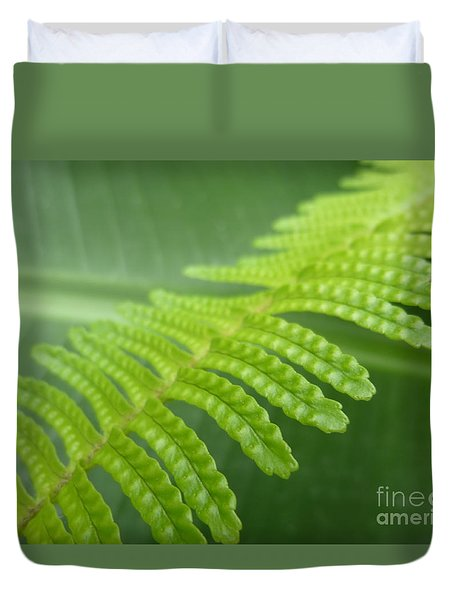 Frond And Leaf Duvet Cover by Tim Good