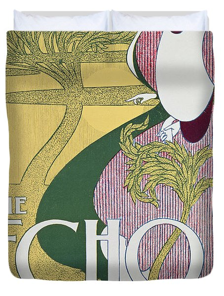 Front Cover Of The Echo Duvet Cover by William Bradley