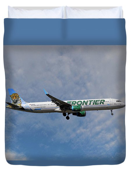 Frontier Airbus A321-211 Duvet Cover