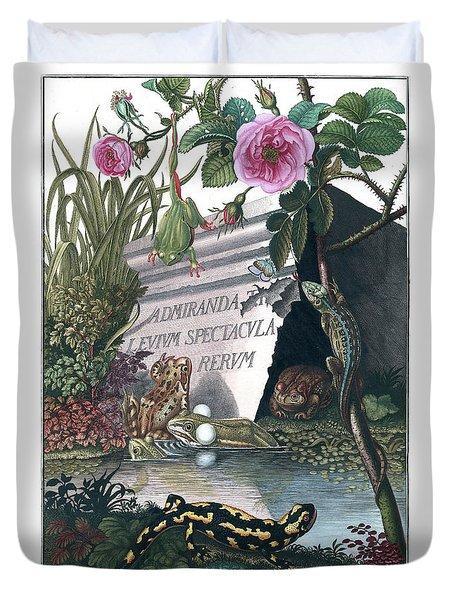 Frontis Of Historia Naturalis Ranarum Nostratium Duvet Cover