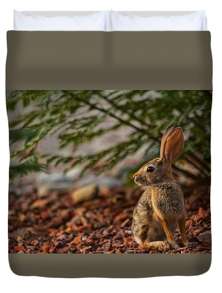 Frontyard Bunny Duvet Cover