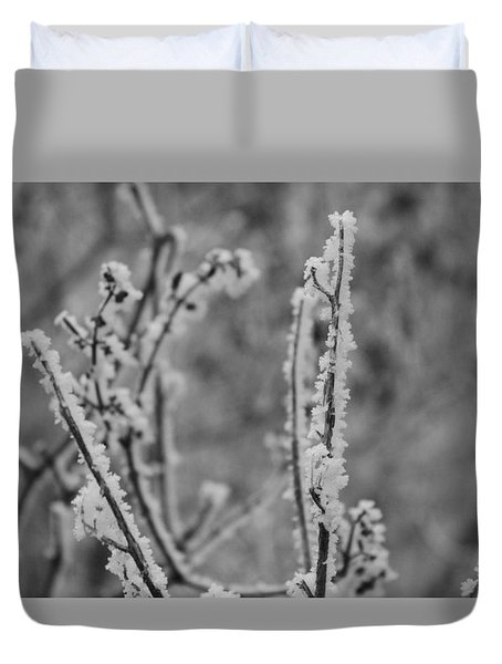 Duvet Cover featuring the photograph Frost 1 by Antonio Romero