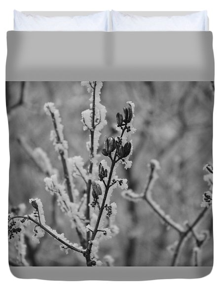 Duvet Cover featuring the photograph Frost 5 by Antonio Romero