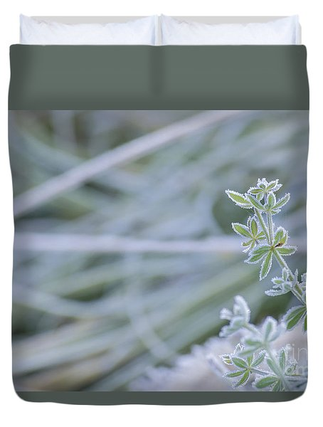 Duvet Cover featuring the photograph Frost And Fall II by Rima Biswas