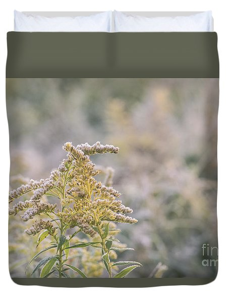 Duvet Cover featuring the photograph Frost And Fall by Rima Biswas