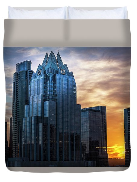 Frost Bank Tower Duvet Cover