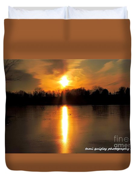 Frost Fire  Duvet Cover