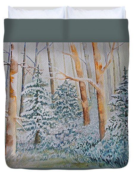 Winter Frost Duvet Cover by Joanne Smoley