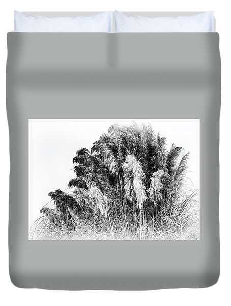Frost On The Pampas Grass Duvet Cover