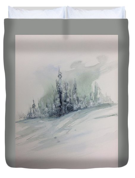 Frost On The Pines Duvet Cover