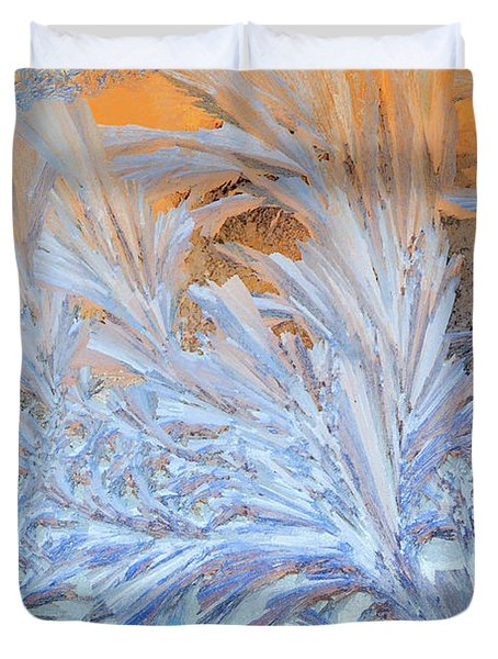 Frost Patterns On Window Duvet Cover