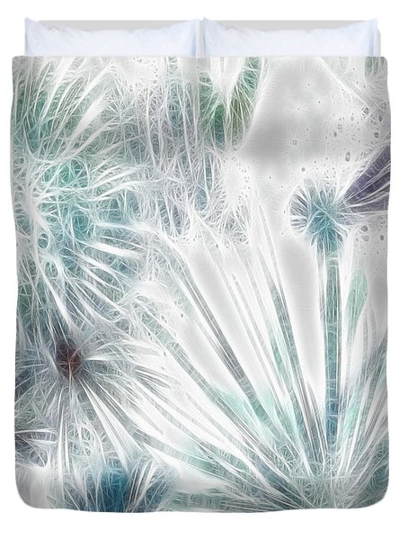 Duvet Cover featuring the digital art Frosted Abstract by Methune Hively