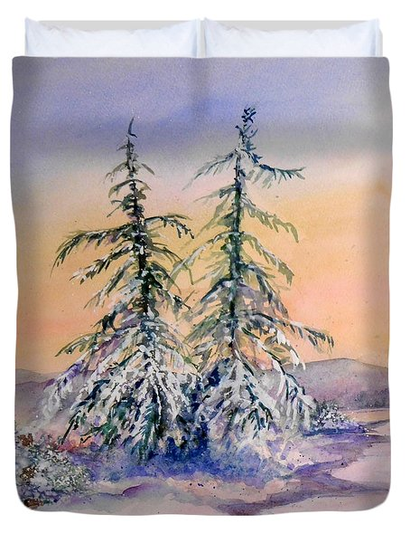 Frosted Dawn Duvet Cover