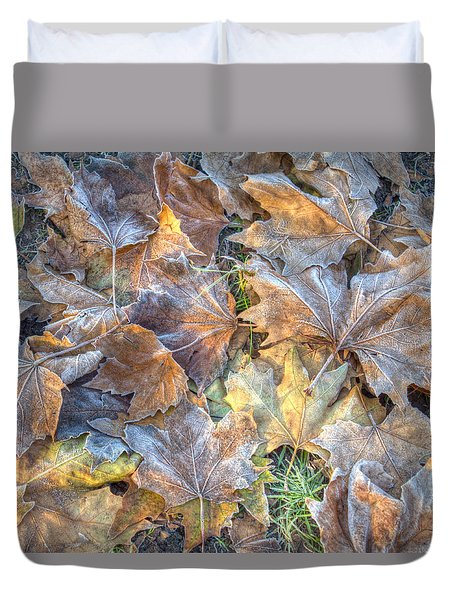 Frosted Leaves 8x10 Duvet Cover