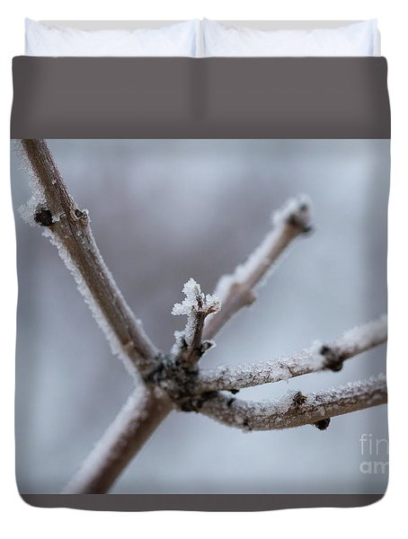 Duvet Cover featuring the photograph Frosted Morning by Ana V Ramirez