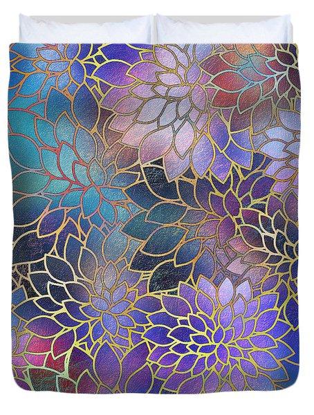 Duvet Cover featuring the digital art Frostwork Fantasy by Klara Acel