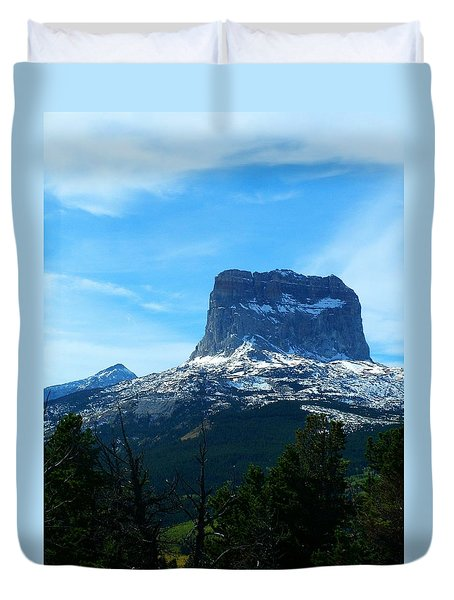 Frosty Chief Mountain Duvet Cover
