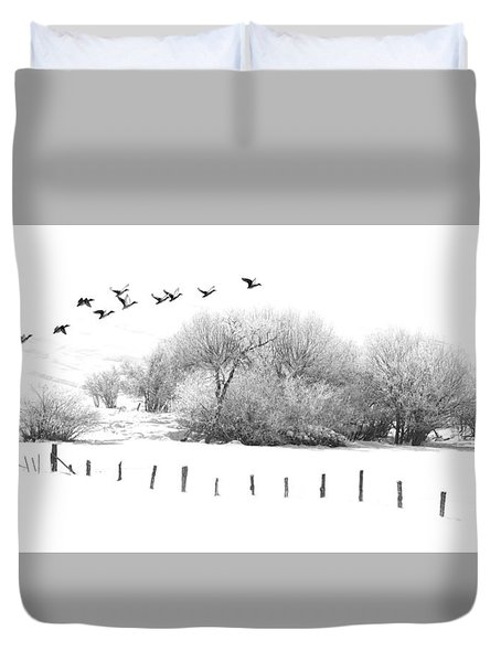 Frosty Flight Duvet Cover