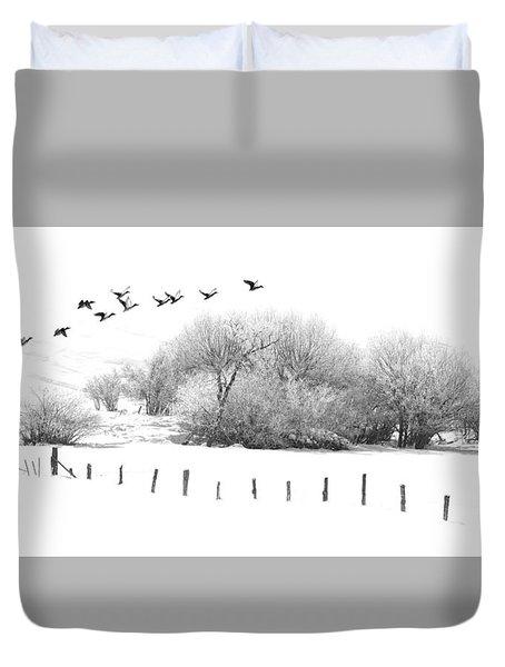 Frosty Flight Duvet Cover