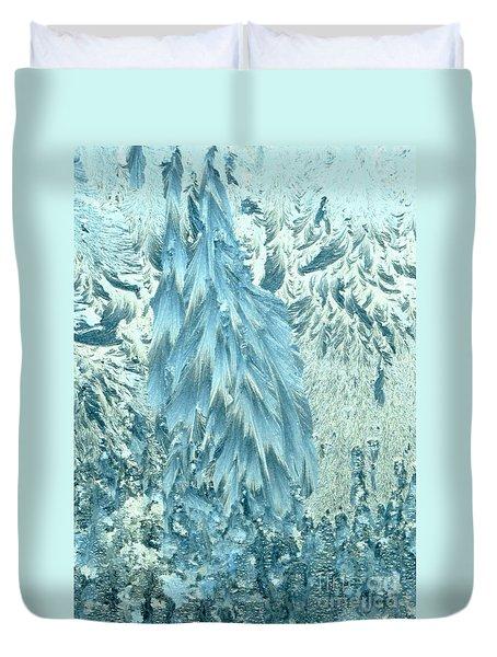 Frosty Forest Duvet Cover