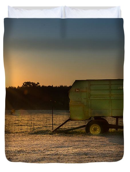 Frosty John Deere Sunrise Duvet Cover