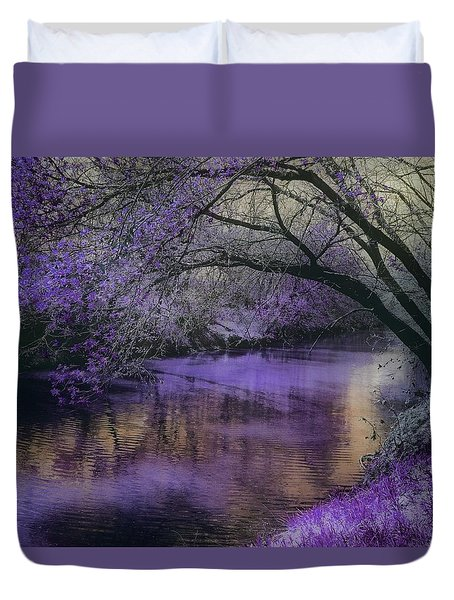 Frosty Lilac Wilderness Duvet Cover by Michele Carter