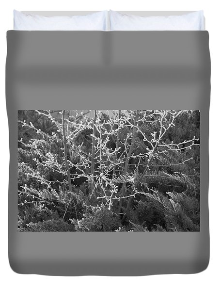 Duvet Cover featuring the photograph Frosty Morning # 3 by Antonio Romero