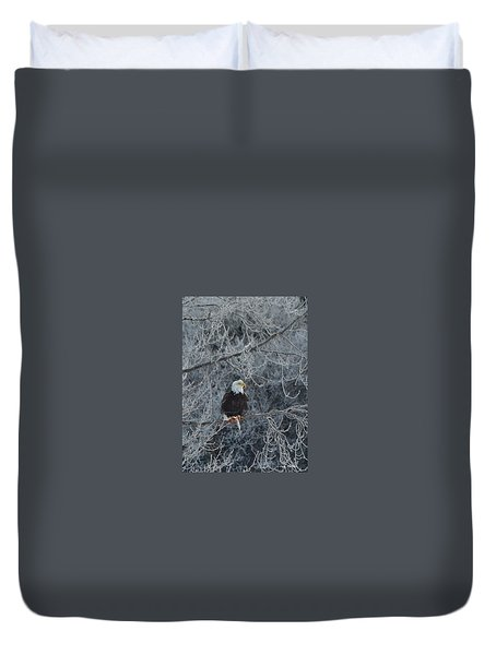 Frosty Morning Eagle Duvet Cover