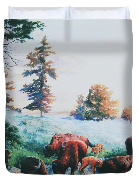 Frosty Morning Duvet Cover by Hanne Lore Koehler