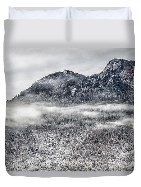 Snowy Grandfather Mountain - Blue Ridge Parkway Duvet Cover