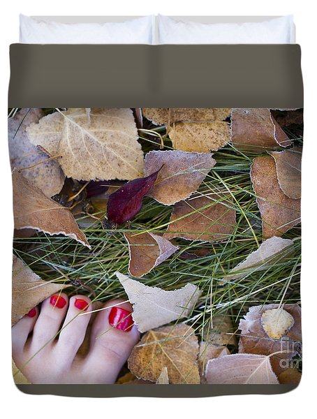 Frosty Toes Duvet Cover