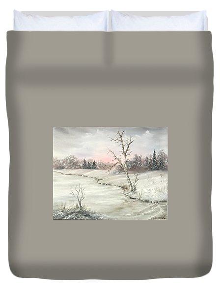 Frosty Winter Morning  Duvet Cover