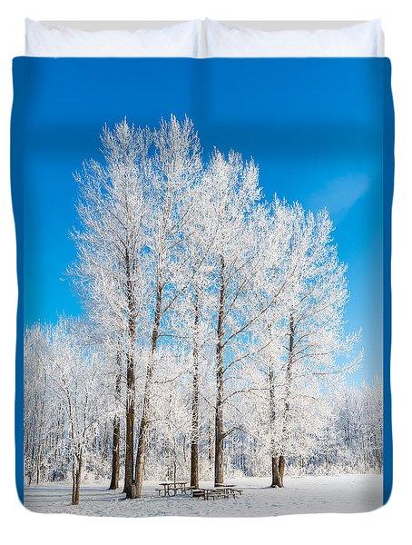 Frosty Wonderland Duvet Cover